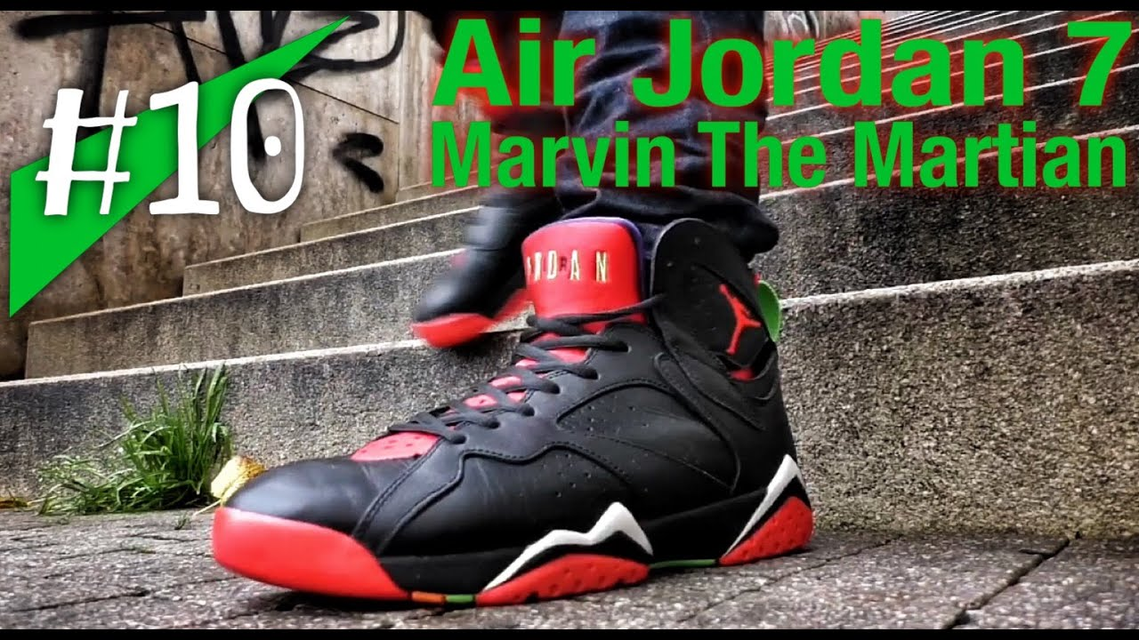 more photos 41dd5 ed1c2  10 - Nike Air Jordan 7 `Marvin The Martian` - on feet - sneakerkult