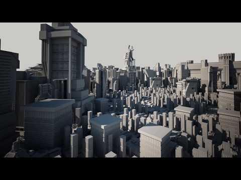 MODERN SCI-FI BUILDINGS KITBASH 3D MODELS