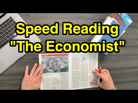 """Speed Reading """"The Economist"""" - How To Read Magazines Faster"""