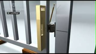 Sureclose Center Mount Gate Hinge And Closer Installation Animation