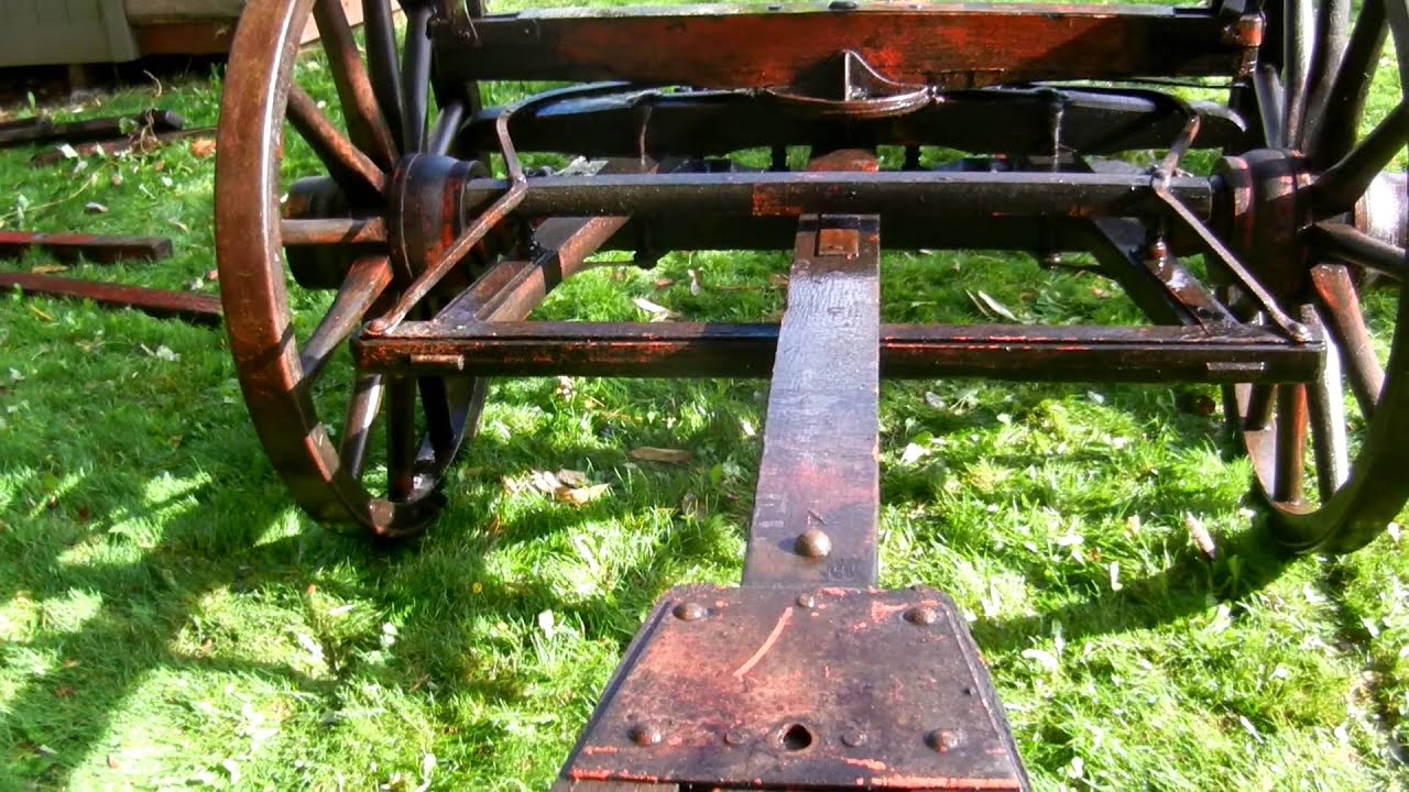 Old Wagon Gears : Old western wagons running gear wooden