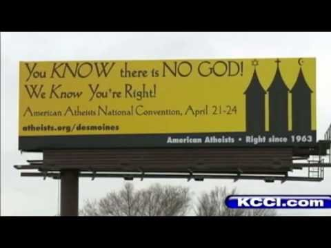Atheist Billboard - Des Moines, IA - American Atheists - Local news