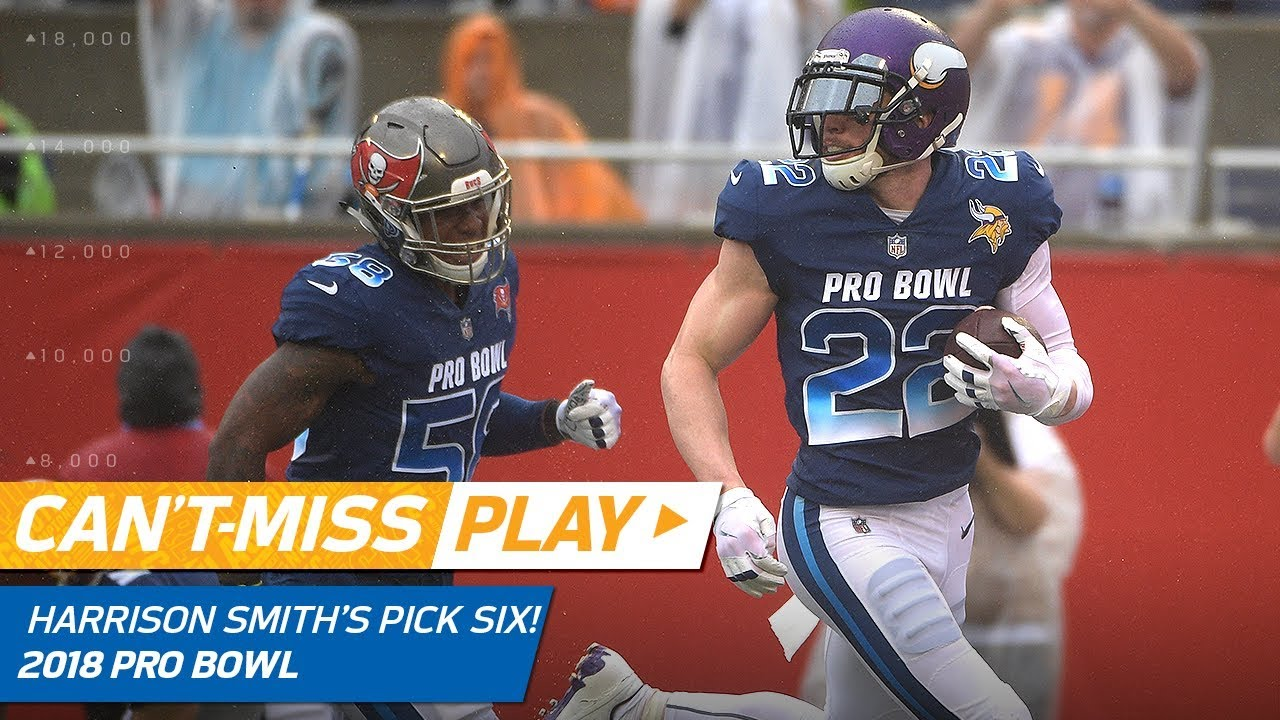 sale retailer f217e 62386 Harrison Smith's 79-Yd Pick Six Off Ben Roethlisberger! | Can't-Miss Play |  2018 NFL Pro Bowl HLs