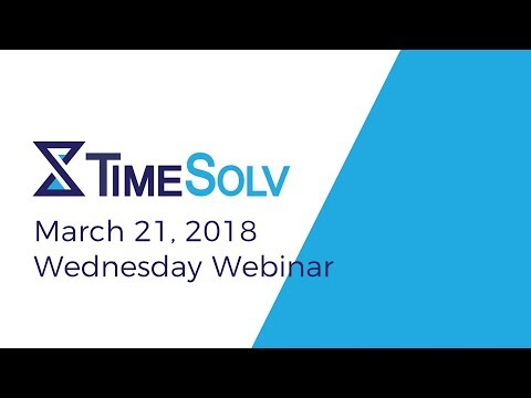 Wednesday Webinar: March 21, 2018
