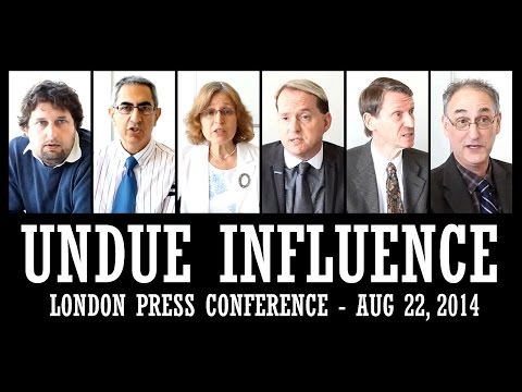 London Press Conference on UNDUE INFLUENCE - Aug 22, 2014