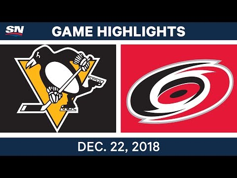NHL Highlights | Penguins vs. Hurricanes - Dec 22, 2018