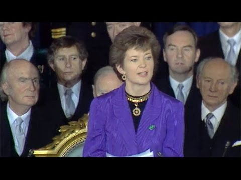 Mary Robinson. We were there. You were there. RTÉ.