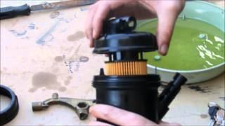 ZAFIRA B : Changement du filtre gasoil