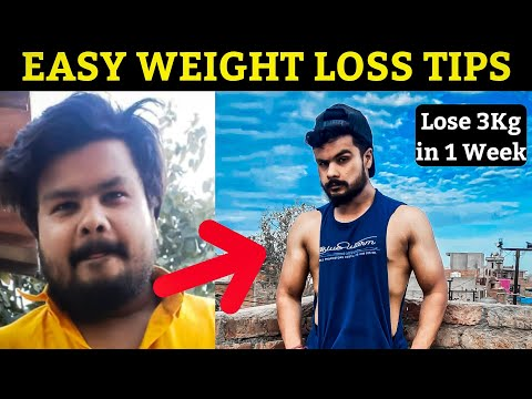 4 Easy Weight Loss Tips IN HINDI | Beginners Weight Loss Tips at Home || My Fat to Fit Transformati