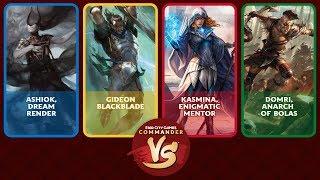 Commander VS S15E8: Ashiok VS Gideon VS Kasmina VS Domri [EDH]