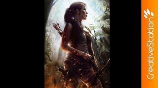 Tomb Raider - Speed painting ( #Photoshop ) | CreativeStation