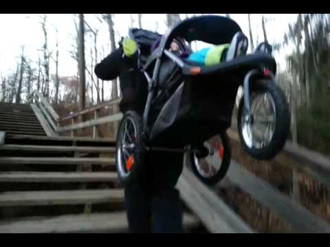 Upsadazy The Stair Capable Baby Stroller Rolling To St