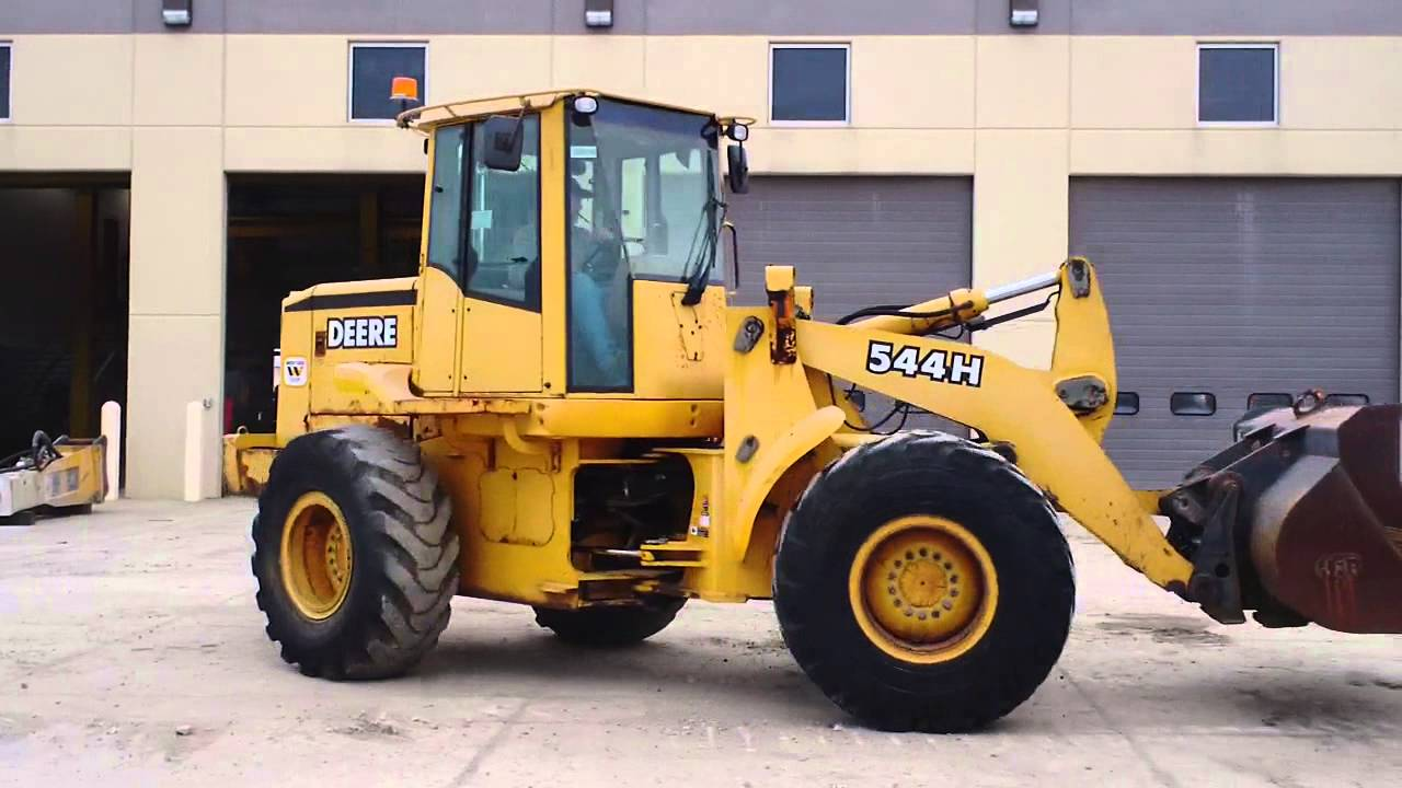 jd 544h wheel loader youtube rh youtube com John Deere Loader Forks John Deere TC54H Starter