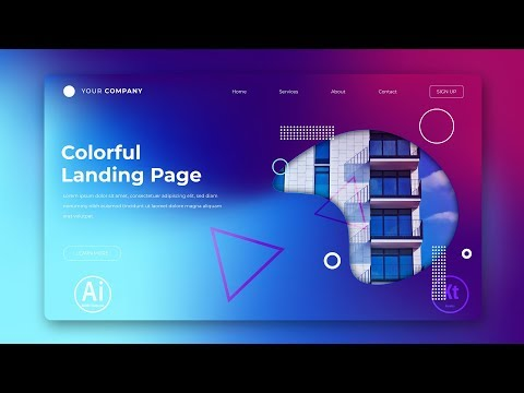 Landing Page - Abstract Background #7 - Clipping Mask - Adobe Illustrator Tutorial thumbnail