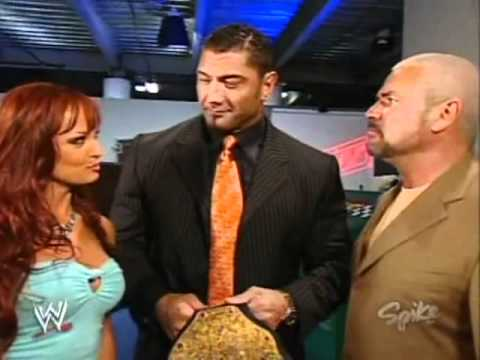 Batista, Eric Bischoff and Christy Hemme segment RAW 5 2 2005   Video Dailymotion