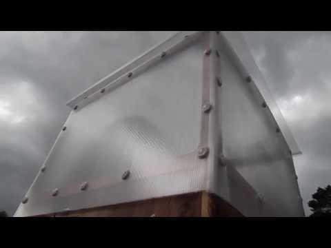Летний душ (обшивка поликарбонатом)