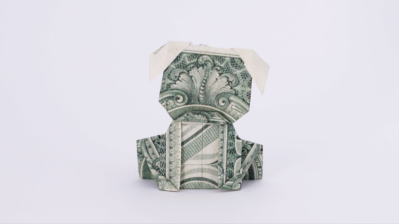 Origami Money Dog Jo Nakashima