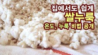 쌀누룩 만들기 황국균 사용한 발효 음식