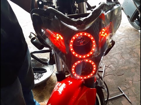 how to install angel lights pulsar 220 - bullet singh boisar