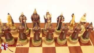 Деревянные шахматы - Русско-монгольское сражение(http://www.telegraf-spb.ru/product/nardy-podarochnye_5b/ Шахматы старейшая игра которая формировалась долгое время от периода свое..., 2015-11-09T14:57:02.000Z)