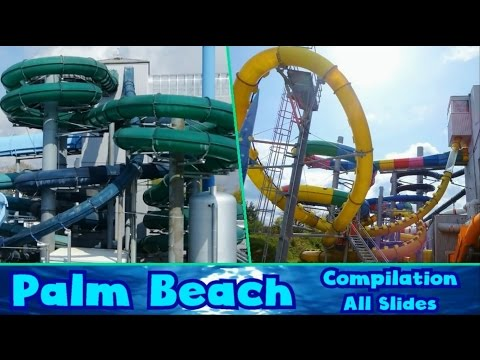 ALL AWESOME WATER SLIDES at Kristall Palm Beach 2016/2017! [Compilation]