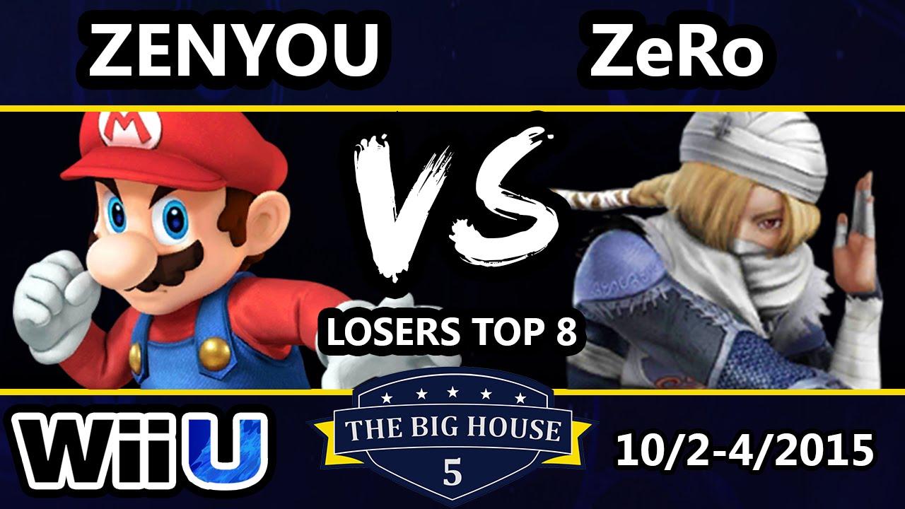 TBH5 - Zenyou (Mario) Vs. TSM | ZeRo (Sheik) SSB4 Losers Top 8 - Smash Wii U