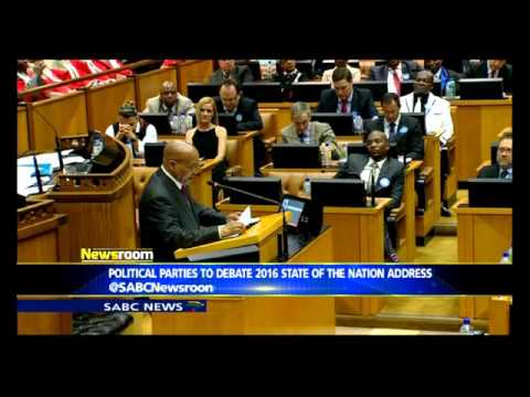 Political parties to debate 2016 SONA