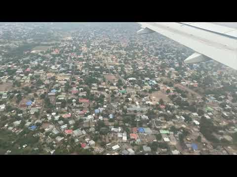 Landing at Kinshasa International Airport
