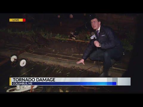 Suspected tornado in Columbus, MS leave behind trail of damage – Alabama Alerts