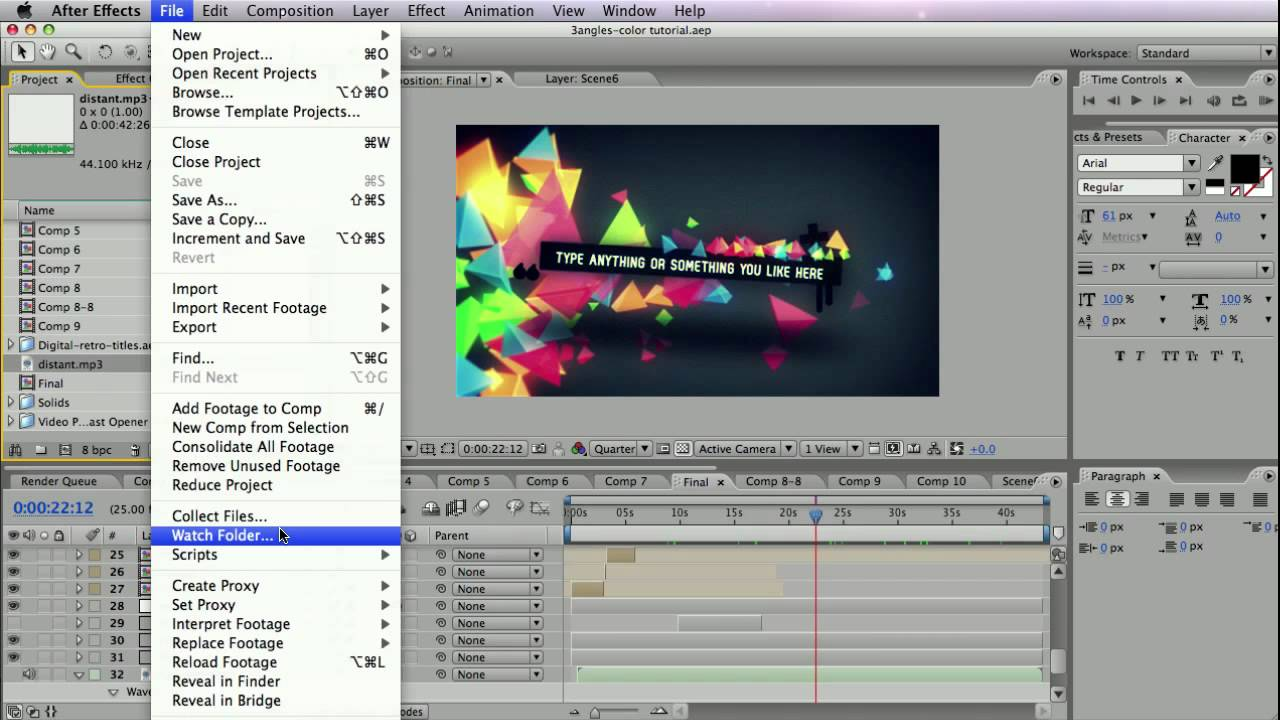 FREE After Effects Tutorial: Collect files, Reduce project, Keep track of Plug-ins - YouTube