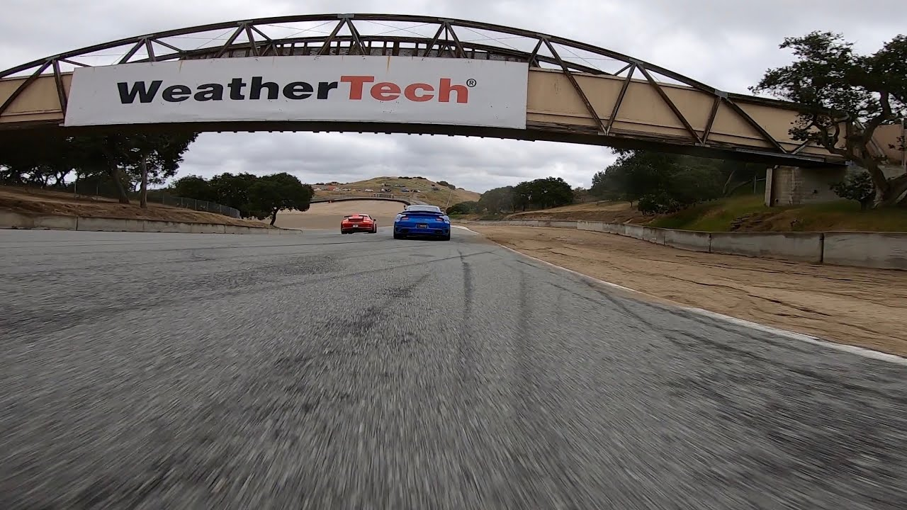 Is a Camaro ZL1 faster than a Porsche GT3 around Laguna Seca ?