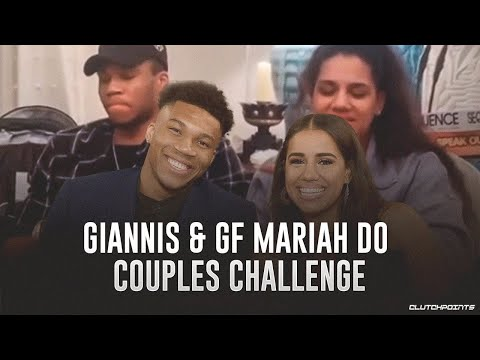 Giannis Antetokounmpo & Girlfriend Mariah Riddlesprigger Do Couples Challenge