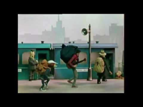 Крокодил Гена и Чебурашка - поезд отправляется - YouTube