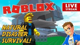 Roblox Natural Disaster Survival LIVE! | Road to 4K | Roblox Mini Game | Playing Roblox Survival
