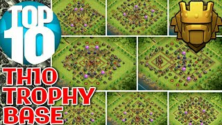 Best Th10 Trophy Pushing Base 2018 | Anti All | Clash of Clans
