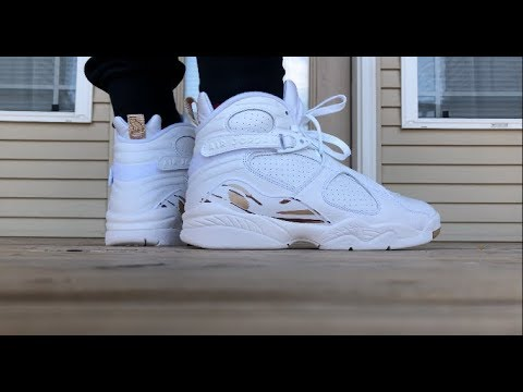 separation shoes f49c9 ec233 Air Jordan 8 OVO - WHITE ON FOOT LOOK!!!