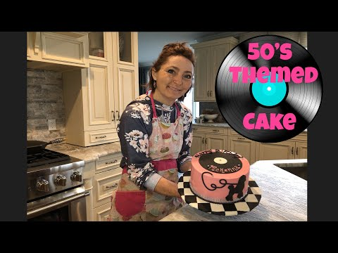 50s Themed Cake The Making Of Start To Finish