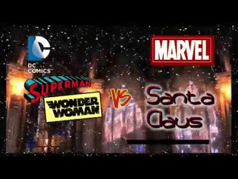 DC Vs MARVEL Superman Wonder Woman Vs Santa Claus Snow