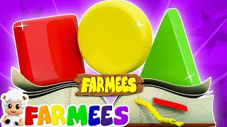 Shapes Song | Learn Shapes | Nursery Rhymes | Baby Songs by Farmees