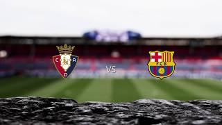 El Sadar celebra con los jugadores el empate ante el Barcelona
