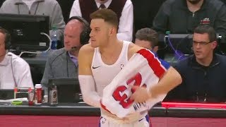 Blake Griffin Forgets to wear his Jersey in Pistons Debut After Getting Traded By Clippers!