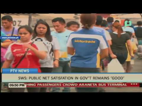 SWS: Public net satisfaction in gov't remains 'Good'