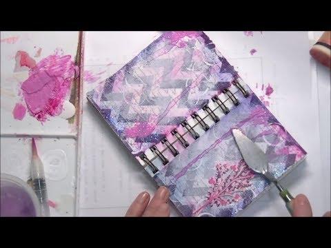 Paper Napkin Mini Art Journal Background Tutorial for Beginners