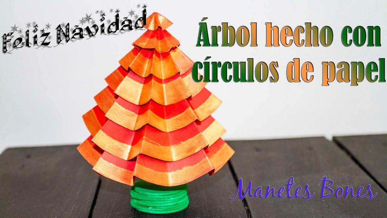 Rbol de navidad hecho con c rculos de papel viernes de - Tutorial arbol de navidad ...