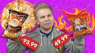 Lays Maxx пицца 4 сыра / Lays Strong ОСТРЫЙ ЧИЛИ!