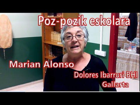 Marian Alonso. Dolores Ibarruri BHI- Poz-pozik eskolara! Fernando Morillo Grande