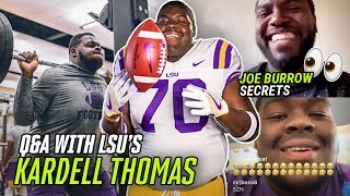 """They Pulled His PANTS DOWN!"" LSU's Kardell Thomas Talks Joe Burrow & National Championship Run"