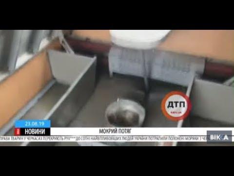 ТРК ВіККА: В «Укрзалізниці» пояснили, чому дах їхнього потяга протікає