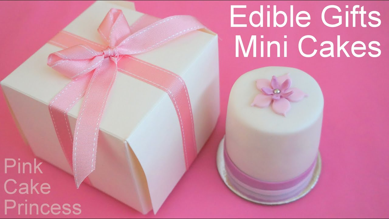 How to Make Mini Cakes for Edible Gifts or Wedding Favors by Pink ...