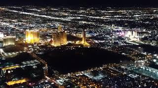 Red Eye Flight Out Of LAS Las Vegas Strip Lit Up Beautiful